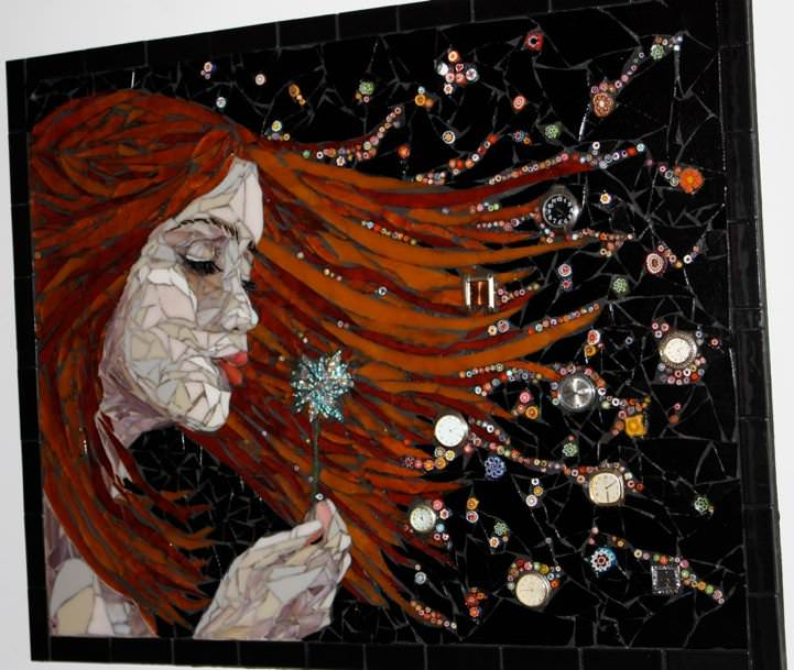 Mosaics by Laura Harris of Melonhead Gallery