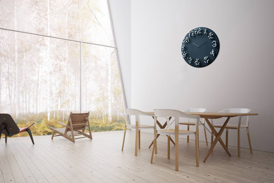 04 mocap clock interior small MOCAP bamboo wall clock by J.P.Meulendijks for Plankton