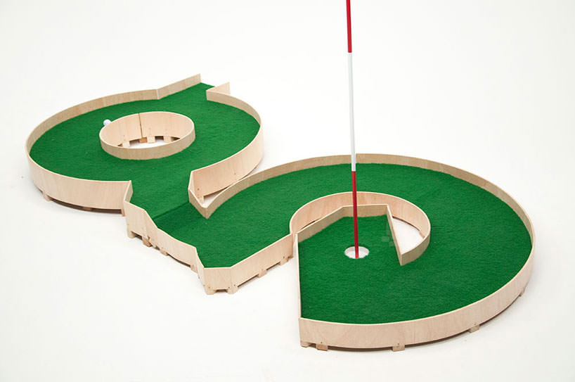 minature golf ollie willis designboom 01 Typographic miniature golf course by Ollie Willis