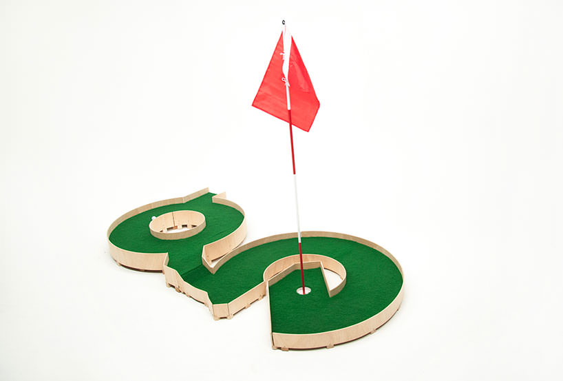 minature golf ollie willis designboom 02 Typographic miniature golf course by Ollie Willis