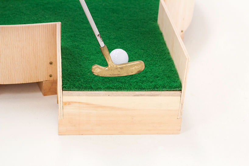 minature golf ollie willis designboom 03 Typographic miniature golf course by Ollie Willis