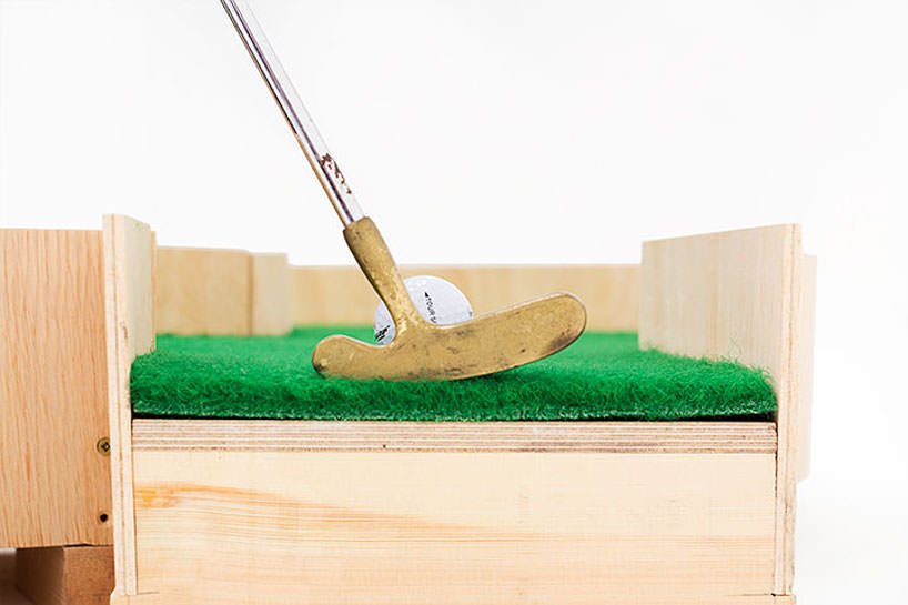 minature golf ollie willis designboom 061 Typographic miniature golf course by Ollie Willis