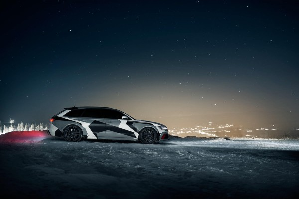 Jon Olsson and his winter transporter, the Audi RS6 2