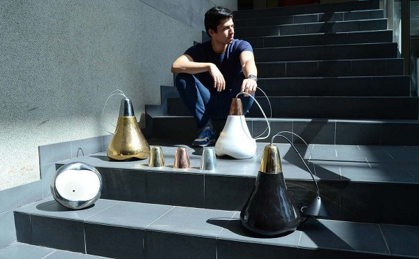 Abel Carcamo and his terracotta lamps 3