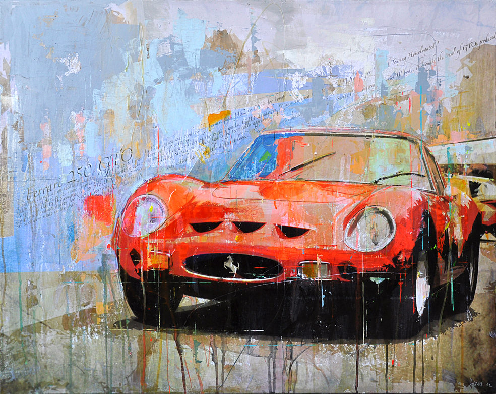 Painting And Art Work Of Race Cars And Racing